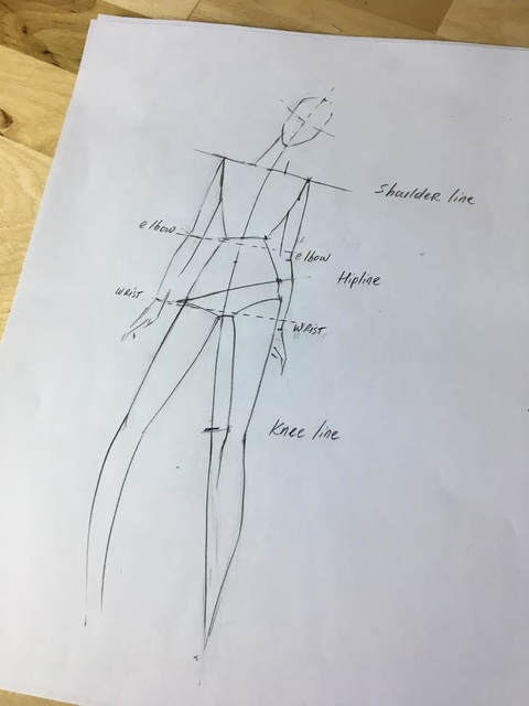 How To Draw A Fashion Figure In A Few Simple Steps Step By Step Guide With Pictures Doina Alexei